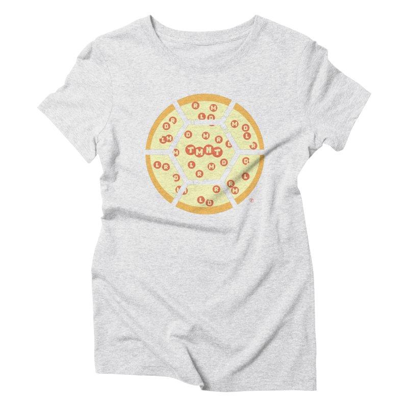 Half Shell Pizza Women's Triblend T-Shirt by Joel Siegel's Artist Shop