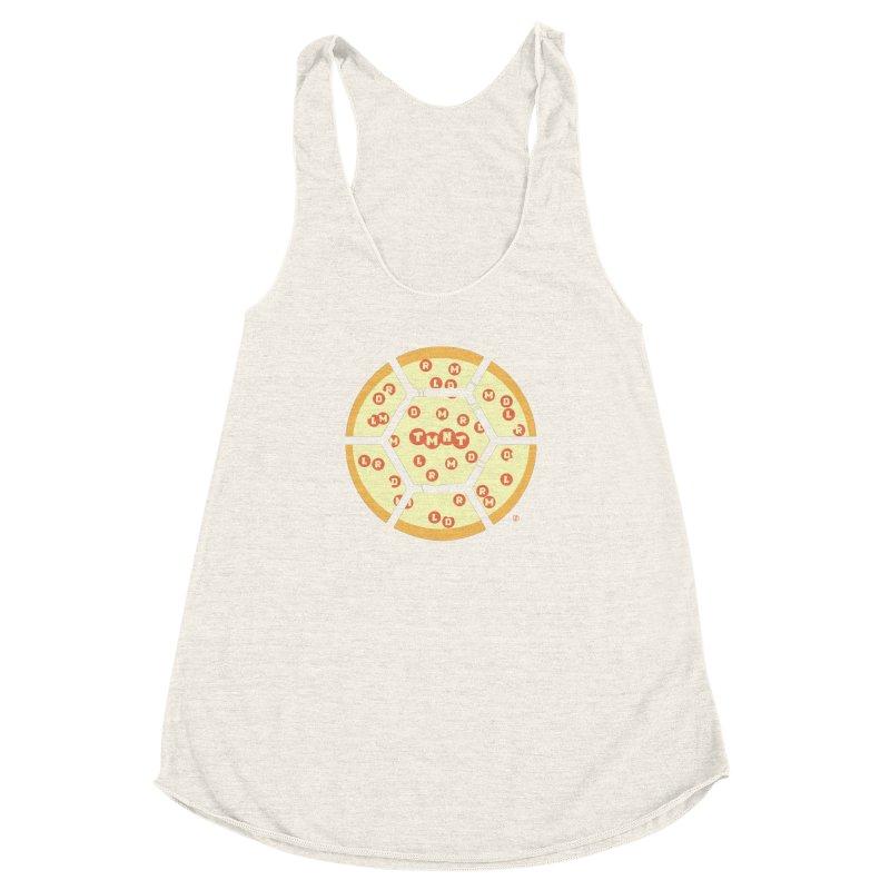 Half Shell Pizza Women's Racerback Triblend Tank by Joel Siegel's Artist Shop