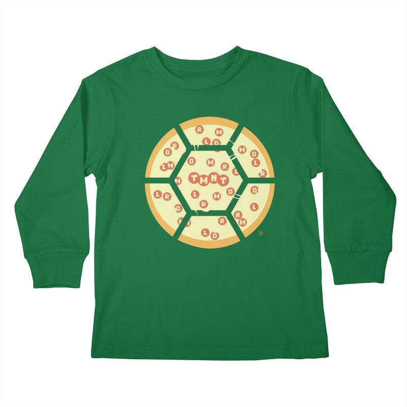 Half Shell Pizza Kids Longsleeve T-Shirt by Joel Siegel's Artist Shop