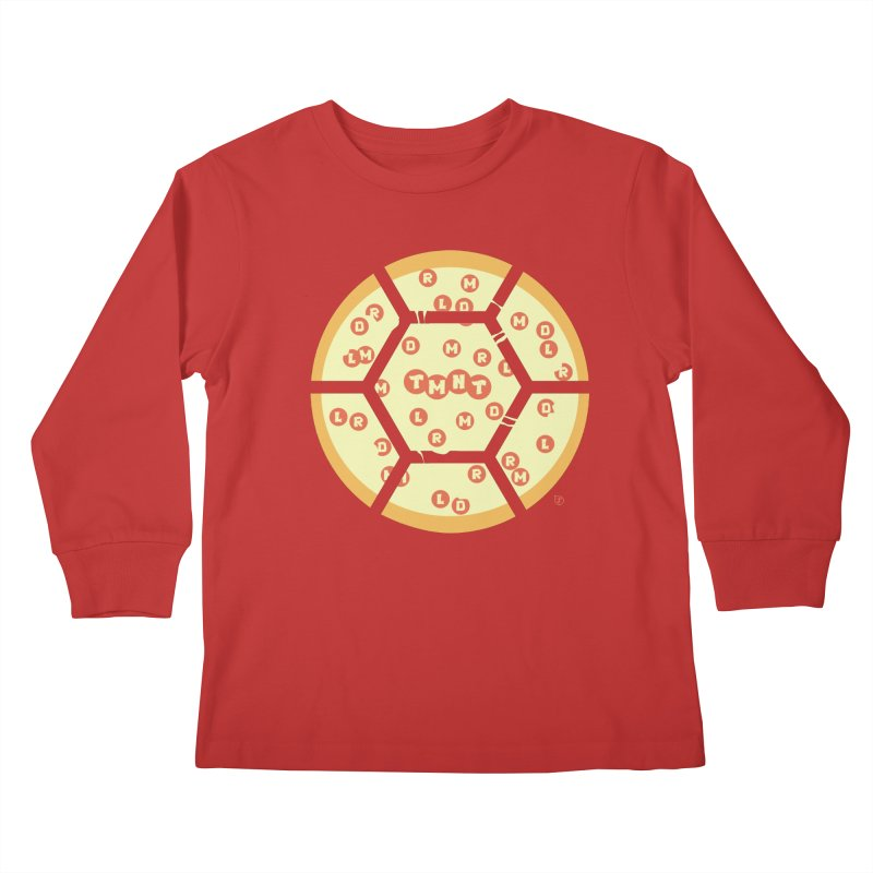 Half Shell Pizza Kids Longsleeve T-Shirt by Joel Siegel's Artist Shop
