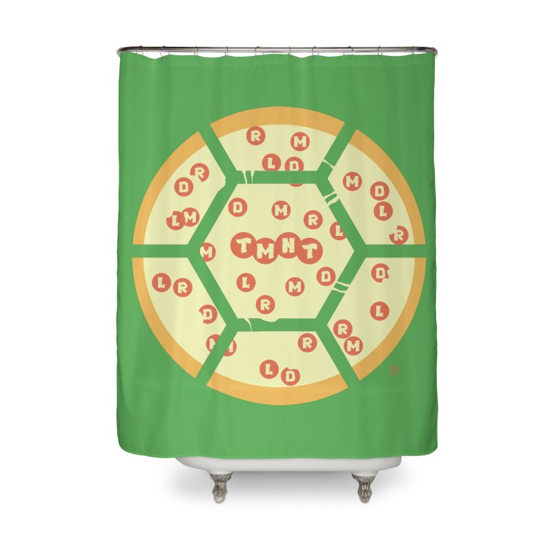 Half Shell Pizza Home Shower Curtain by Joel Siegel's Artist Shop