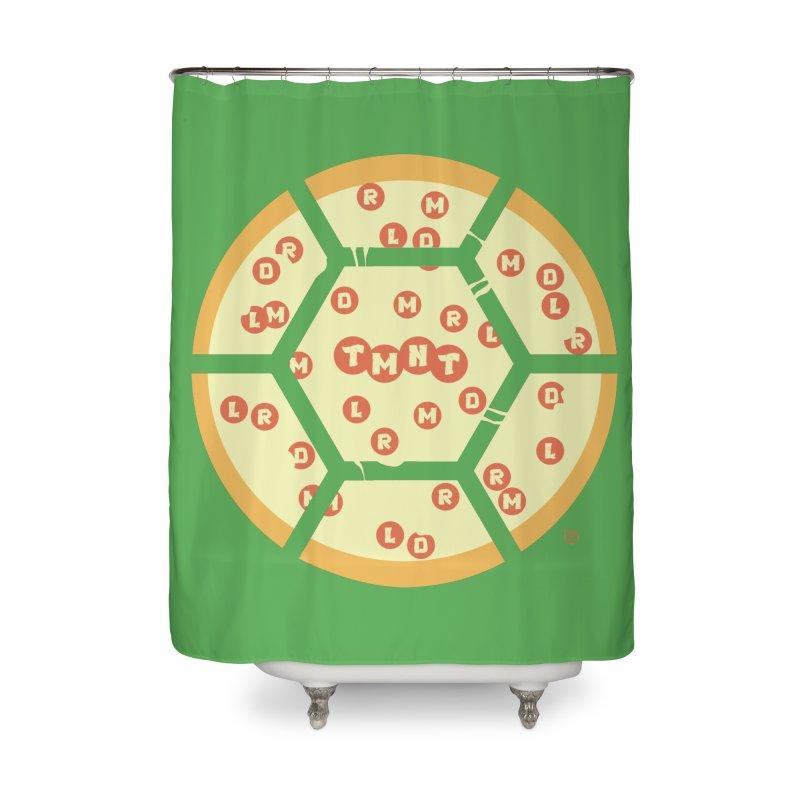 Half Shell Pizza Home Shower Curtain by Joel Siegel's Artist Shop