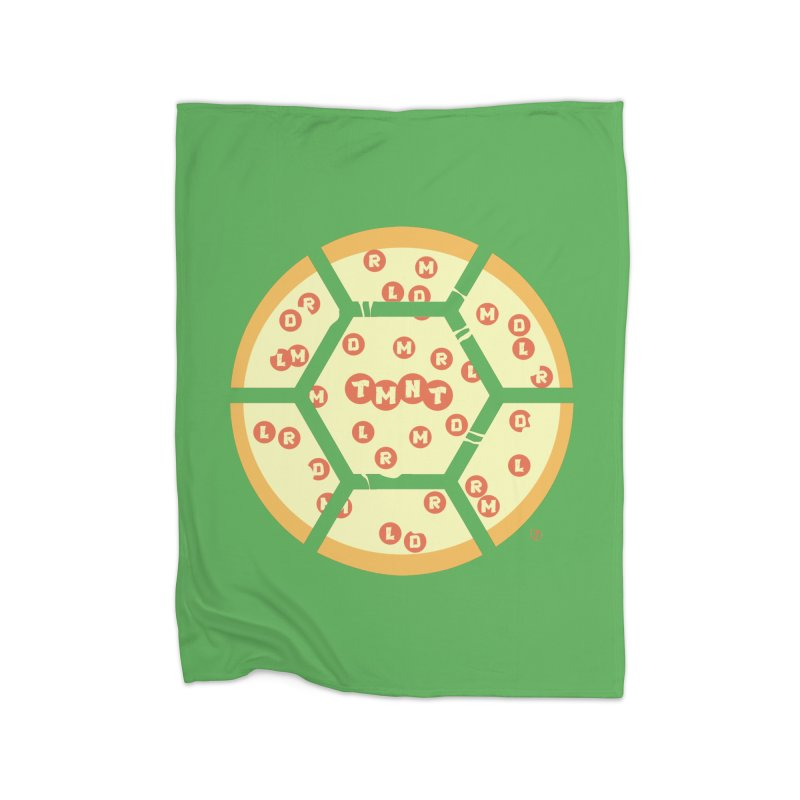 Half Shell Pizza Home Fleece Blanket Blanket by Joel Siegel's Artist Shop