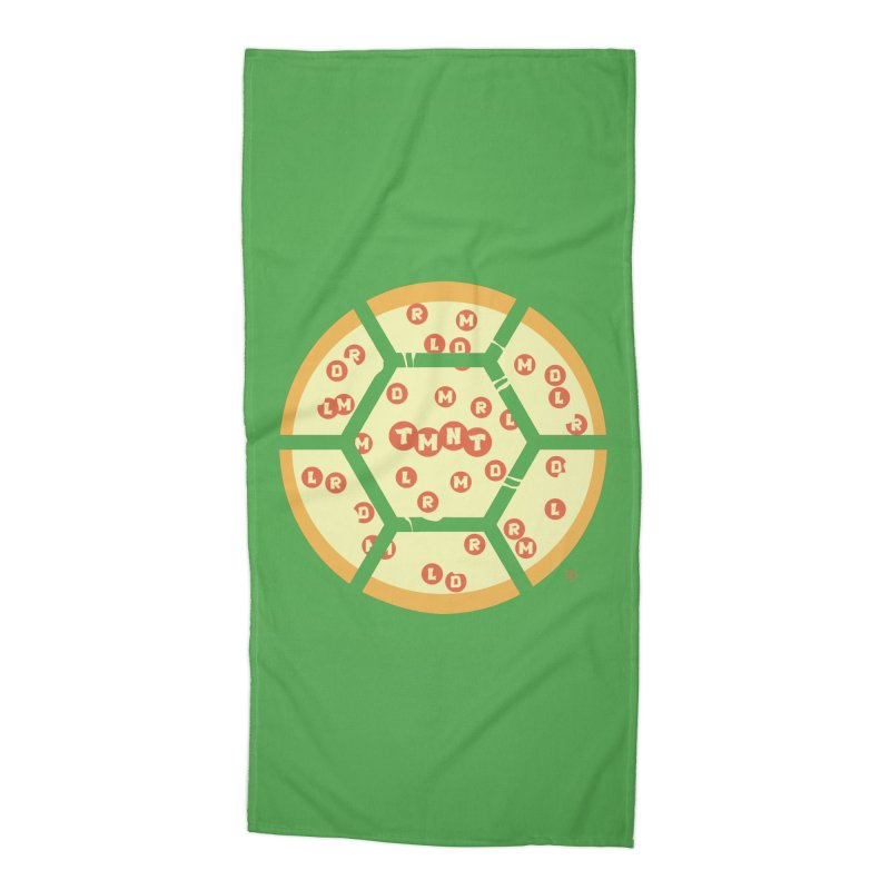 Half Shell Pizza Accessories Beach Towel by Joel Siegel's Artist Shop