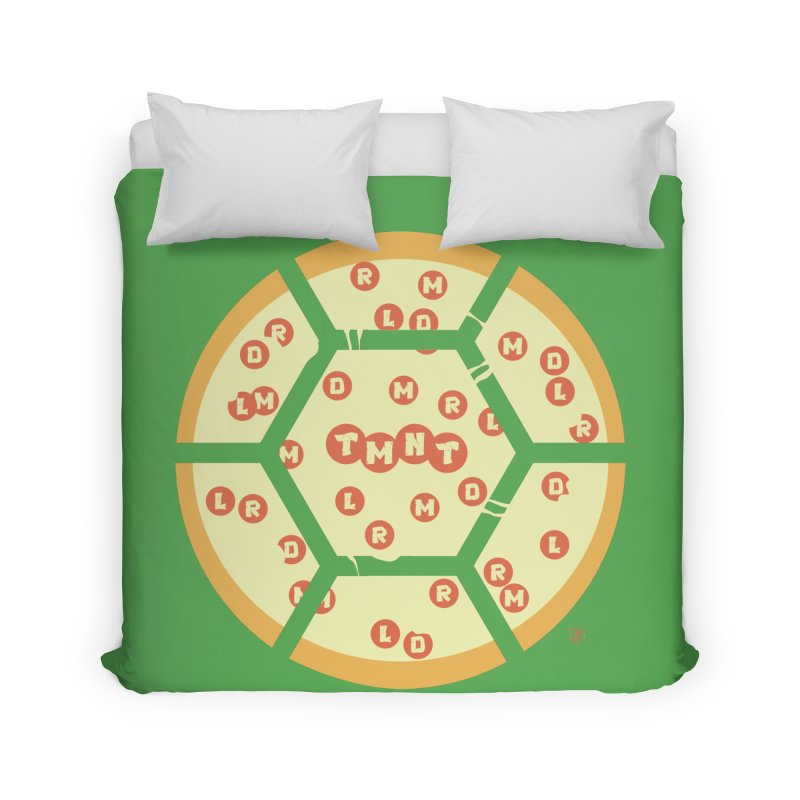 Half Shell Pizza Home Duvet by Joel Siegel's Artist Shop