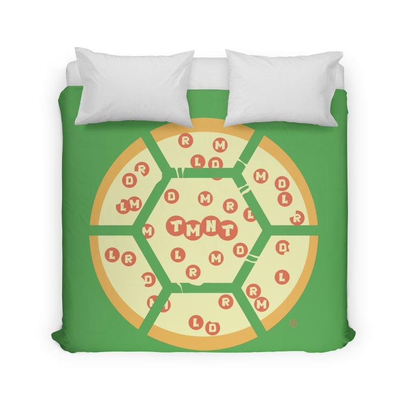 Half Shell Pizza Home Duvet by Joel Siegel's Artist Shop