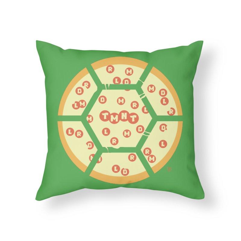 Half Shell Pizza Home Throw Pillow by Joel Siegel's Artist Shop