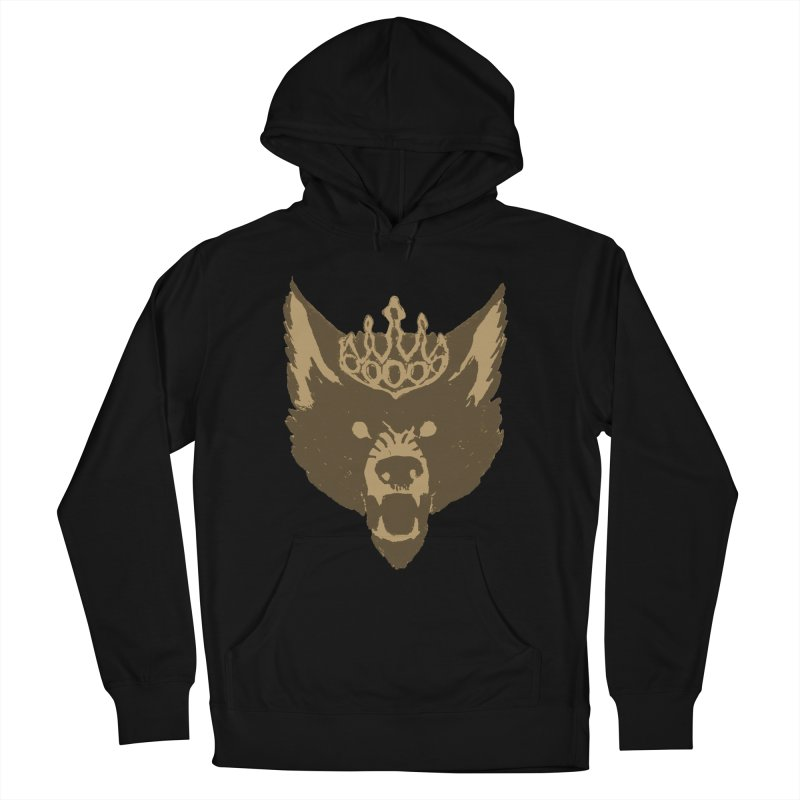 Wolf King Icon Neutral Women's French Terry Pullover Hoody by Joe Sutphin's Artist Shop