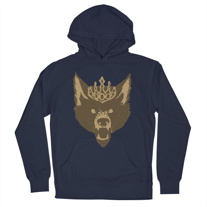 Wolf King Icon Neutral Men's French Terry Pullover Hoody by Joe Sutphin's Artist Shop