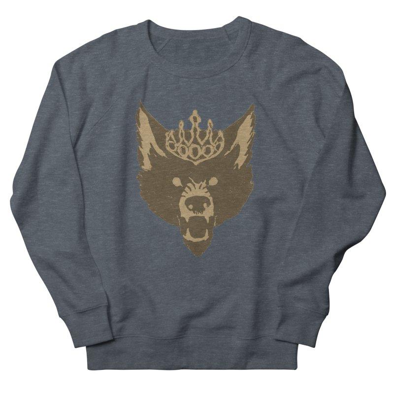 Wolf King Icon Neutral Women's French Terry Sweatshirt by Joe Sutphin's Artist Shop