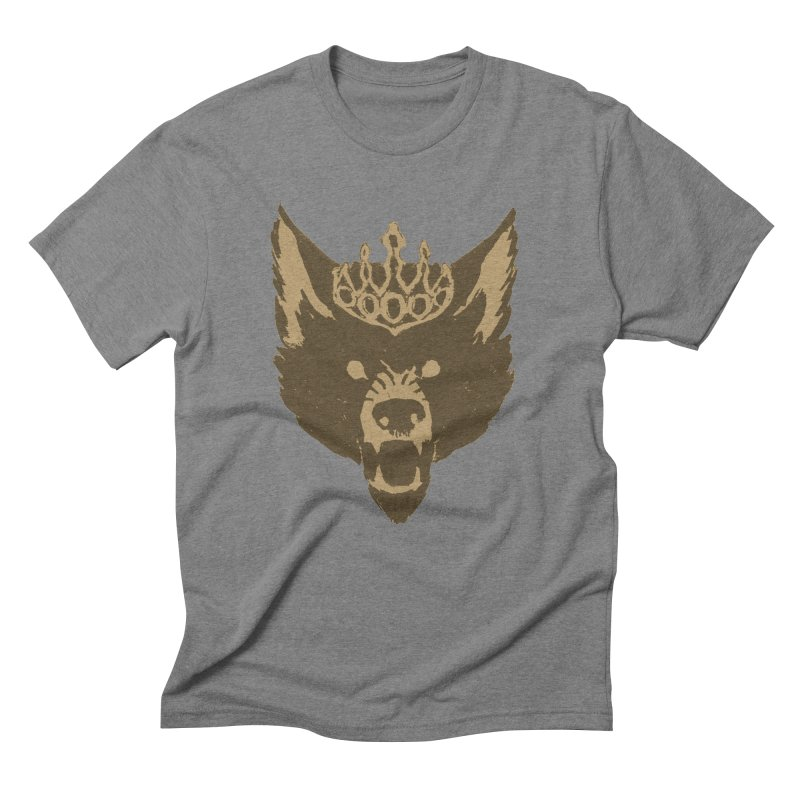Wolf King Icon Neutral Men's Triblend T-Shirt by Joe Sutphin's Artist Shop
