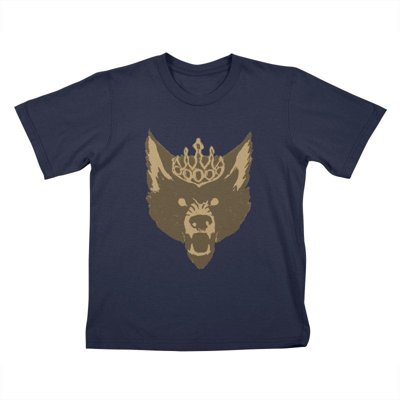 Wolf King Icon Neutral Kids T-Shirt by Joe Sutphin's Artist Shop