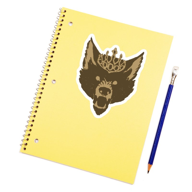 Wolf King Icon Neutral Accessories Sticker by Joe Sutphin's Artist Shop