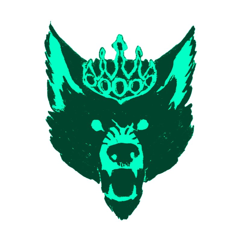 Wolf King Icon Teal by Joe Sutphin's Artist Shop