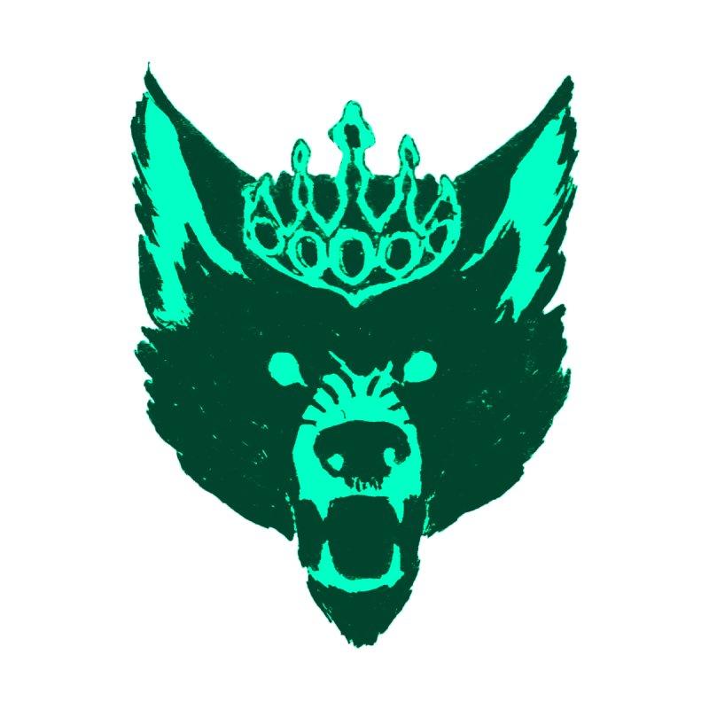 Wolf King Icon Teal Accessories Sticker by Joe Sutphin's Artist Shop