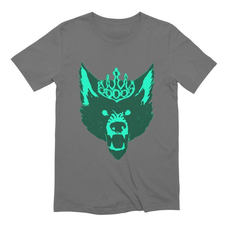 Wolf King Icon Teal Men's T-Shirt by Joe Sutphin's Artist Shop