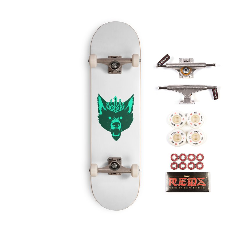 Wolf King Icon Teal Accessories Complete - Pro Skateboard by Joe Sutphin's Artist Shop