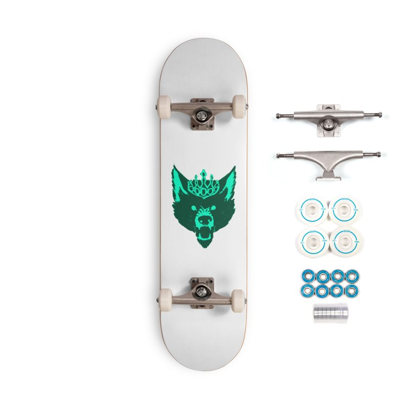 Wolf King Icon Teal Accessories Complete - Basic Skateboard by Joe Sutphin's Artist Shop