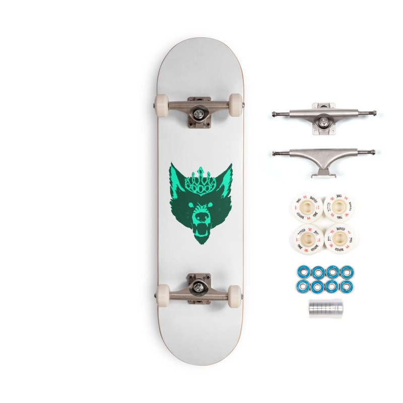 Wolf King Icon Teal Accessories Complete - Premium Skateboard by Joe Sutphin's Artist Shop