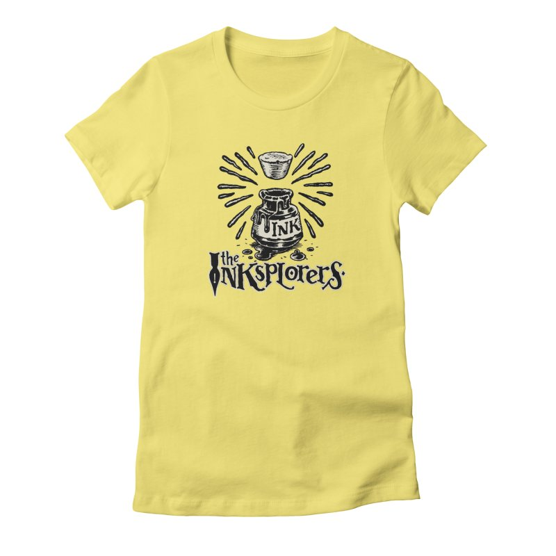 Inksplorers Logo Inkwell Women's Fitted T-Shirt by Joe Sutphin's Artist Shop