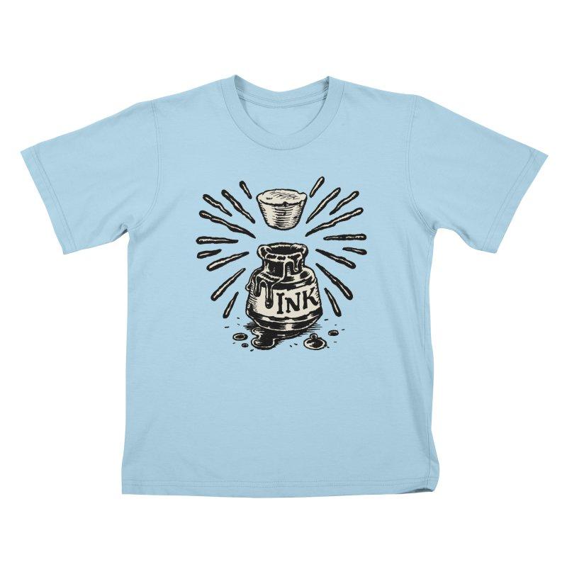 Inksplorers Inkwell Kids T-Shirt by Joe Sutphin's Artist Shop