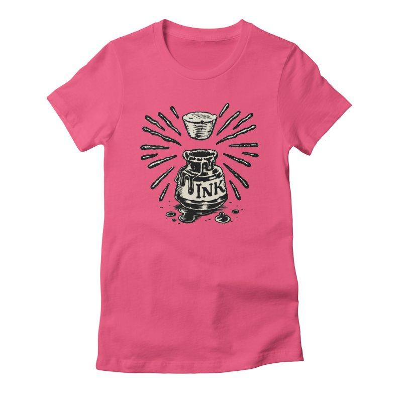 Inksplorers Inkwell Women's Fitted T-Shirt by Joe Sutphin's Artist Shop