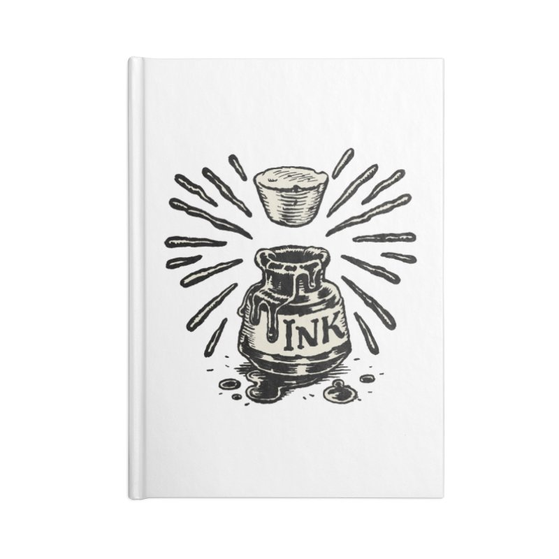 Inksplorers Inkwell Accessories Lined Journal Notebook by Joe Sutphin's Artist Shop