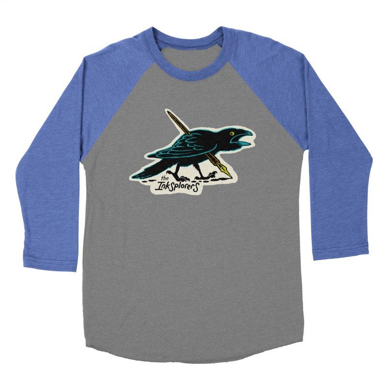 Crow Quill Club Men's Baseball Triblend Longsleeve T-Shirt by Joe Sutphin's Artist Shop
