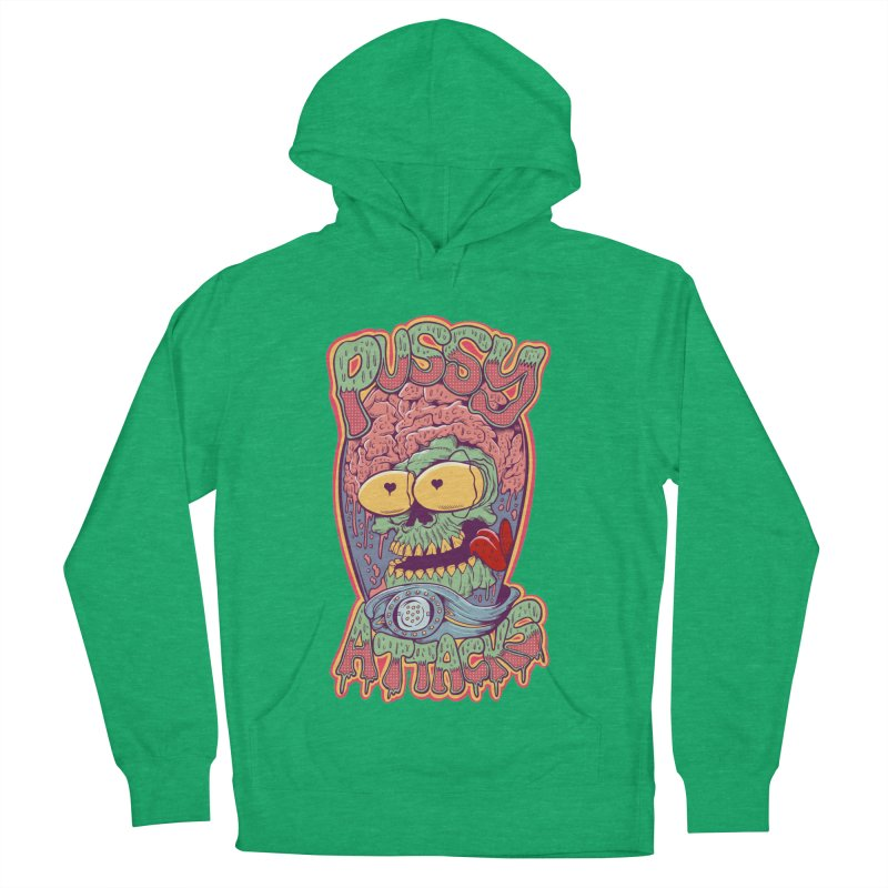 Pussy Attacks! Women's French Terry Pullover Hoody by Joe Tamponi
