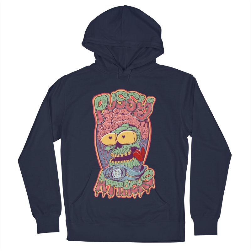 Pussy Attacks! Men's French Terry Pullover Hoody by Joe Tamponi