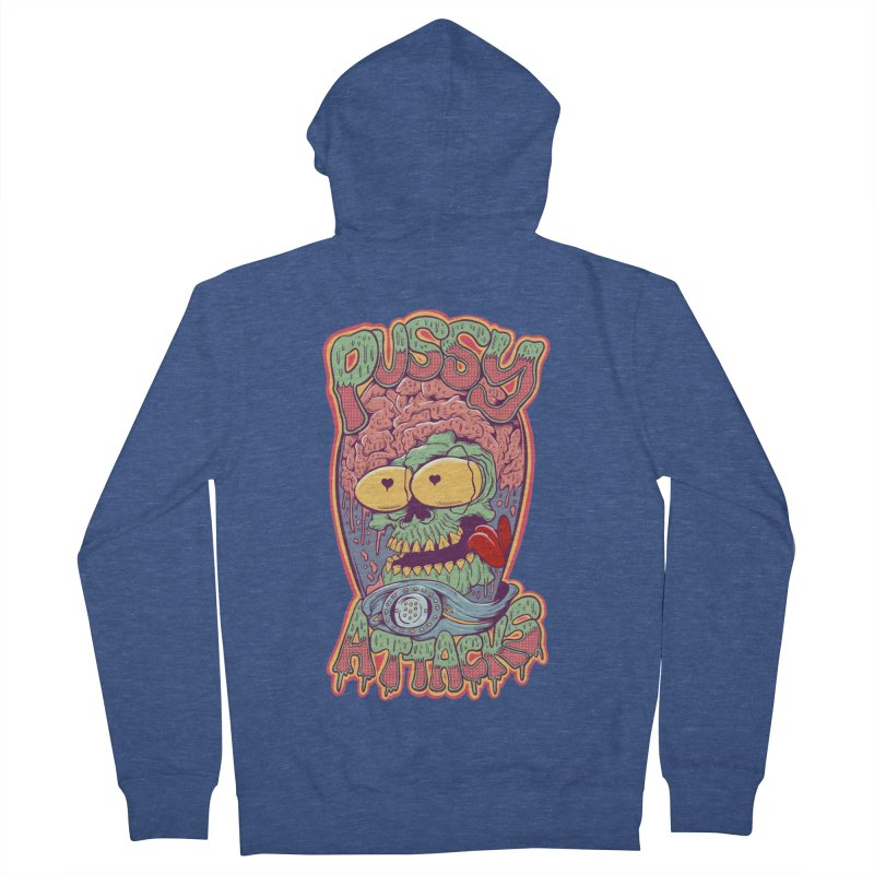 Pussy Attacks! Women's French Terry Zip-Up Hoody by Joe Tamponi