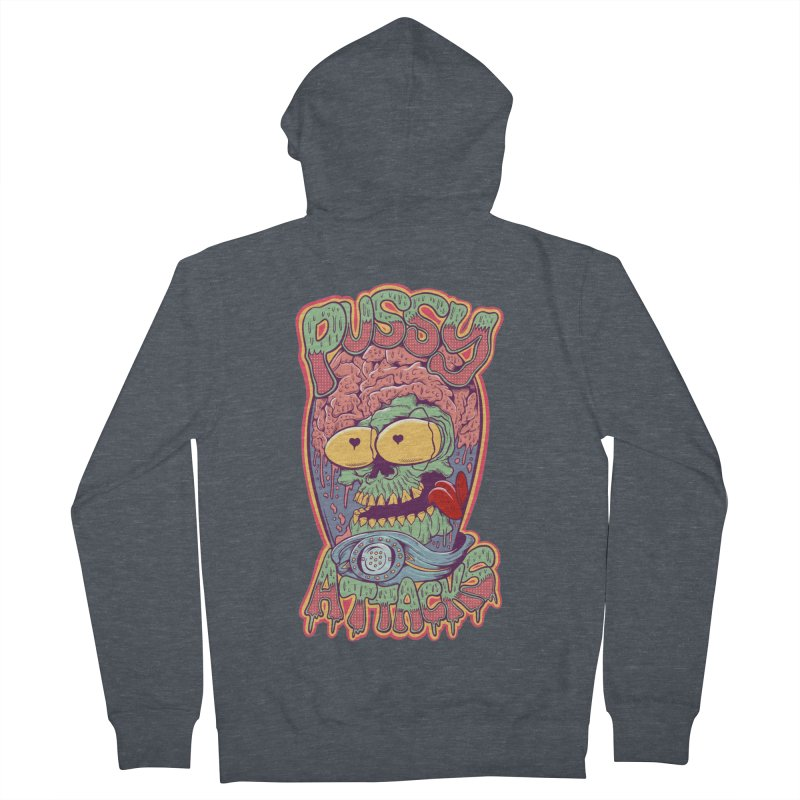 Pussy Attacks! Men's French Terry Zip-Up Hoody by Joe Tamponi