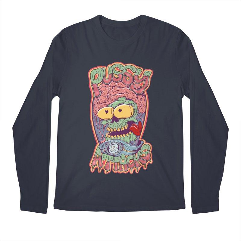 Pussy Attacks! Men's Regular Longsleeve T-Shirt by Joe Tamponi