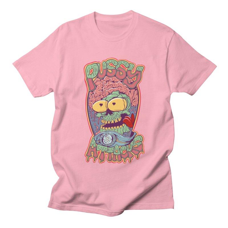 Pussy Attacks! Men's Regular T-Shirt by Joe Tamponi