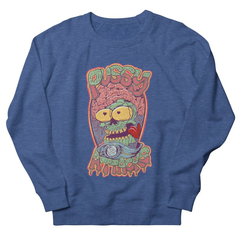 Pussy Attacks! Women's French Terry Sweatshirt by Joe Tamponi