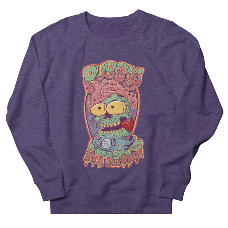 Pussy Attacks! Men's French Terry Sweatshirt by Joe Tamponi
