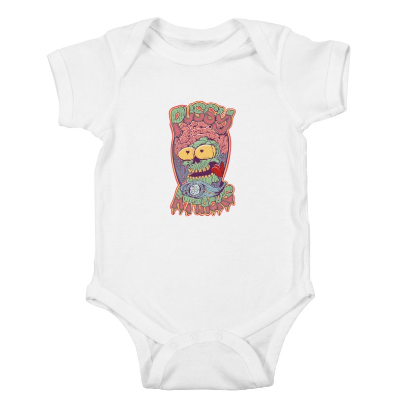 Pussy Attacks! Kids Baby Bodysuit by Joe Tamponi