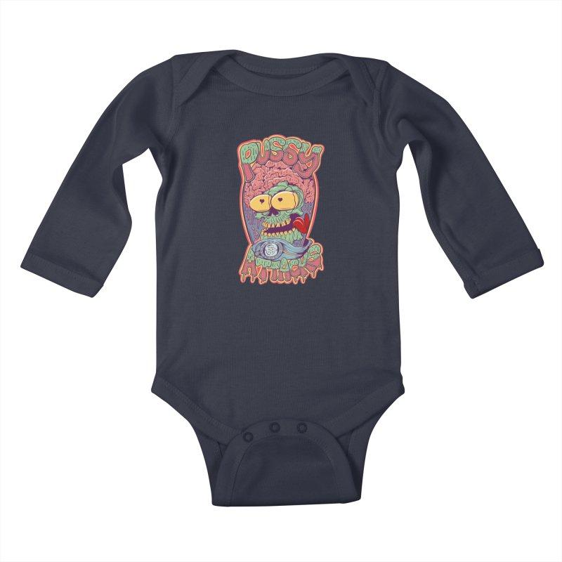 Pussy Attacks! Kids Baby Longsleeve Bodysuit by Joe Tamponi