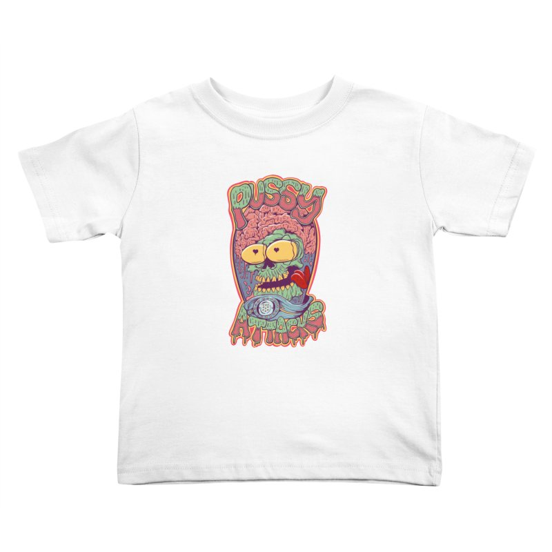 Pussy Attacks! Kids Toddler T-Shirt by Joe Tamponi