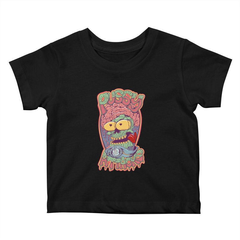 Pussy Attacks! Kids Baby T-Shirt by Joe Tamponi