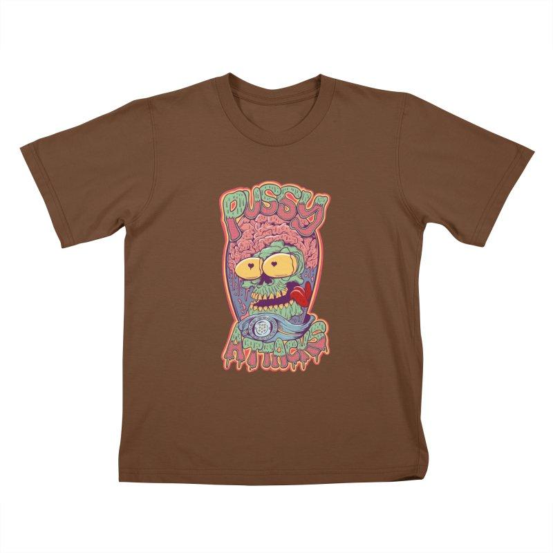 Pussy Attacks! Kids T-Shirt by Joe Tamponi