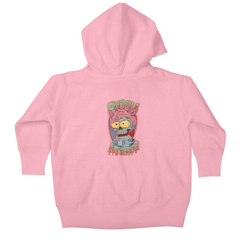 Pussy Attacks! Kids Baby Zip-Up Hoody by Joe Tamponi