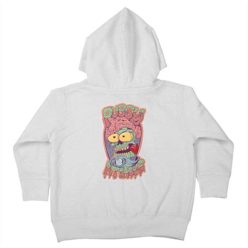 Pussy Attacks! Kids Toddler Zip-Up Hoody by Joe Tamponi