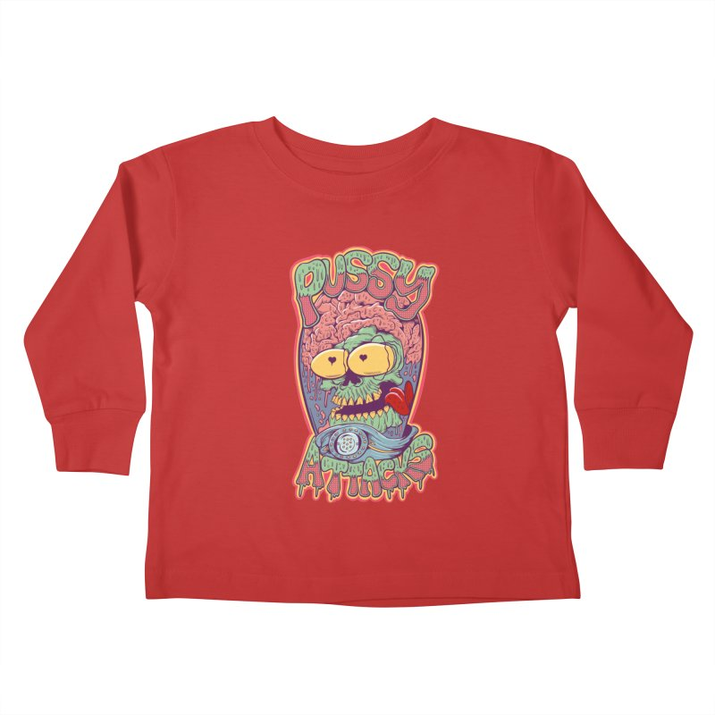 Pussy Attacks! Kids Toddler Longsleeve T-Shirt by Joe Tamponi