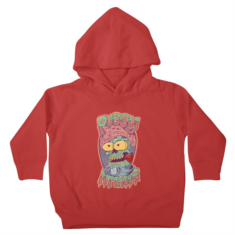 Pussy Attacks! Kids Toddler Pullover Hoody by Joe Tamponi