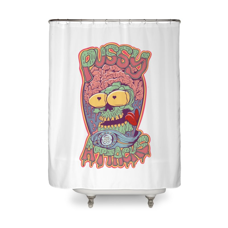 Pussy Attacks! Home Shower Curtain by Joe Tamponi