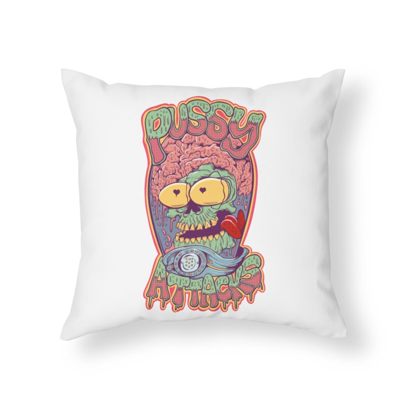 Pussy Attacks! Home Throw Pillow by Joe Tamponi