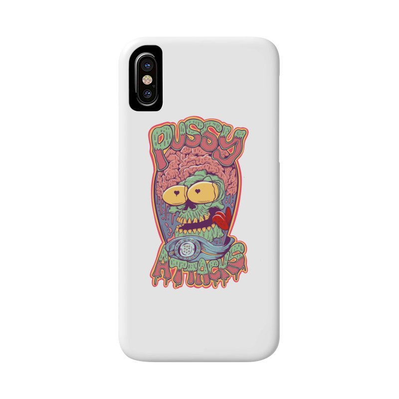 Pussy Attacks! Accessories Phone Case by Joe Tamponi