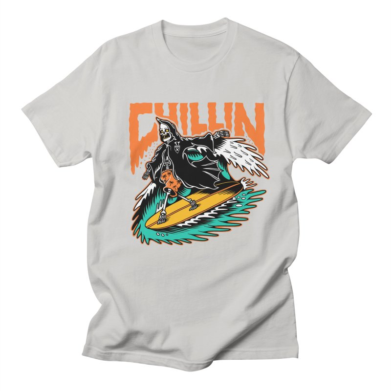 Grim Reaper Surfing chilling Women's Regular Unisex T-Shirt by Joe Tamponi