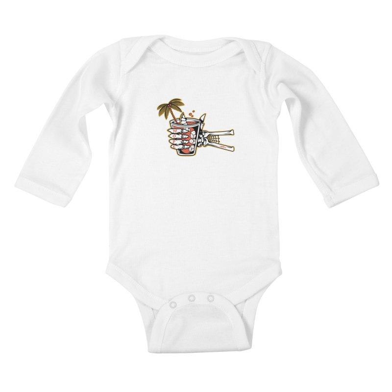 Hope cocktail Kids Baby Longsleeve Bodysuit by Joe Tamponi